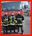 استقرار خودرویی و حضور آتش نشانان در راهپیمایی 9 دی ماه/ به روایت تصویر