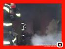 آتش سوزی خانه مخروبه در خیابان تختی رشت/آتش نشانی رشت